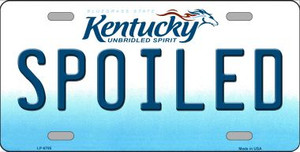 Spoiled Kentucky Novelty Wholesale Metal License Plate