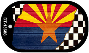 Arizona Racing Flag Wholesale Novelty Metal Dog Tag Necklace DT-13688