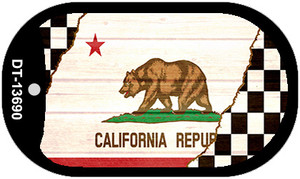 California Racing Flag Wholesale Novelty Metal Dog Tag Necklace DT-13690