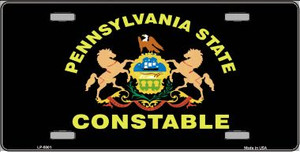 PA Constable Star Seal Wholesale Metal Novelty License Plate