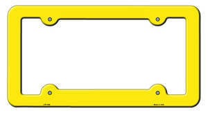 Yellow Solid Wholesale Novelty Metal License Plate Frame LPF-006