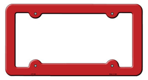 Red Solid Wholesale Novelty Metal License Plate Frame LPF-008