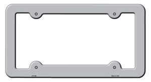 Gray Solid Wholesale Novelty Metal License Plate Frame LPF-009