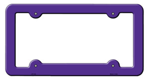 Purple Solid Wholesale Novelty Metal License Plate Frame LPF-010