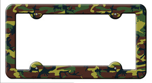 Camouflage Wholesale Novelty Metal License Plate Frame LPF-021