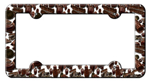 Chocolate Bars Wholesale Novelty Metal License Plate Frame LPF-022