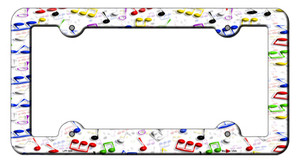 Music Notes Wholesale Novelty Metal License Plate Frame LPF-028