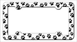 Dog Paws Wholesale Novelty Metal License Plate Frame LPF-029