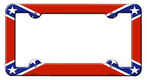 Confederate Flag Wholesale Novelty Metal License Plate Frame LPF-031