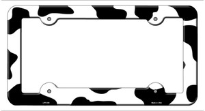 Cow Print Wholesale Novelty Metal License Plate Frame LPF-039