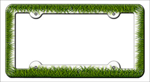 Grass Wholesale Novelty Metal License Plate Frame LPF-043