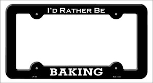 Baking Wholesale Novelty Metal License Plate Frame LPF-064