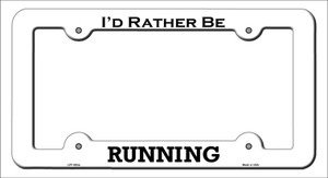 Running Wholesale Novelty Metal License Plate Frame LPF-093