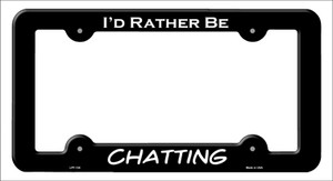 Chatting Wholesale Novelty Metal License Plate Frame LPF-134