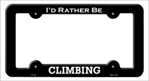 Climbing Wholesale Novelty Metal License Plate Frame LPF-136