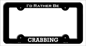 Crabbing Wholesale Novelty Metal License Plate Frame LPF-140