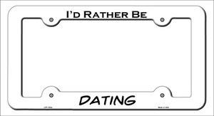 Dating Wholesale Novelty Metal License Plate Frame LPF-153