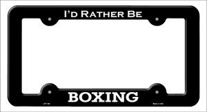 Boxing Wholesale Novelty Metal License Plate Frame LPF-180