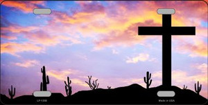 Cross Sunrise Photograph Novelty Wholesale Metal License Plate