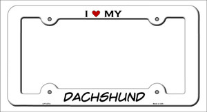 Dachshund Wholesale Novelty Metal License Plate Frame