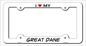 Great Dane Wholesale Novelty Metal License Plate Frame LPF-241