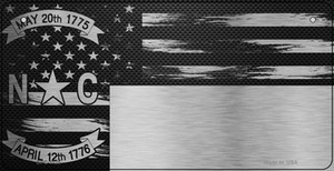 North Carolina Carbon Fiber Effect Wholesale Novelty Metal Bicycle Plate BPC-1125