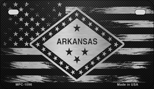 Arkansas Carbon Fiber Brushed Aluminum Wholesale Novelty Metal Motorcycle Plate MPC-1096