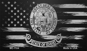 Idaho Carbon Fiber Brushed Aluminum Wholesale Novelty Metal Magnet MC-1104
