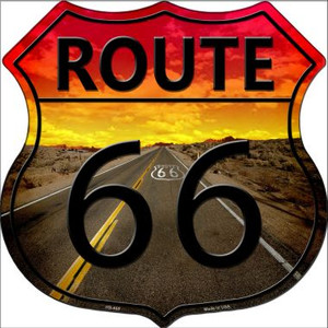 Route 66 Sunset Highway Shield Wholesale Metal Sign