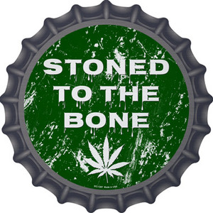 Stoned To The Bone Wholesale Novelty Metal Bottle Cap BC-1287