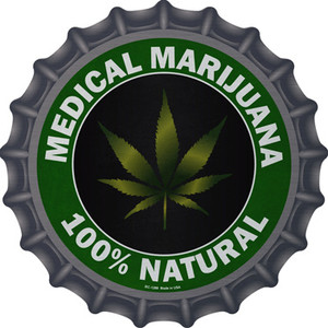 Medical Marijuana Wholesale Novelty Metal Bottle Cap BC-1288