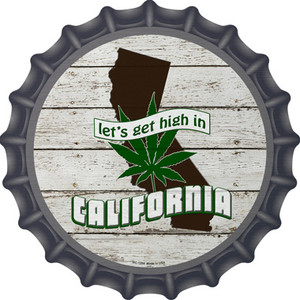 Lets Get High In California Wholesale Novelty Metal Bottle Cap BC-1294