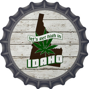 Lets Get High In Idaho Wholesale Novelty Metal Bottle Cap BC-1301