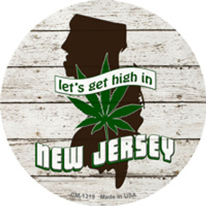 Lets Get High In New Jersey Wholesale Novelty Metal Circle Magnet CM-1319