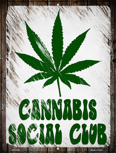 Cannabis Social Club Wholesale Novelty Metal Mini Parking Sign PM-3309
