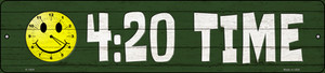 420 Time Wholesale Novelty Metal Small Street Sign K-1604