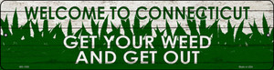 Connecticut Get Your Weed Wholesale Novelty Metal Mini Street Sign MK-1559
