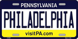 Philadelphia Pennsylvania State Background Novelty Wholesale Metal License Plate