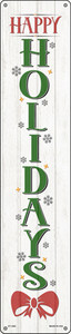 Happy Holidays White Wholesale Novelty Metal Street Sign ST-1682