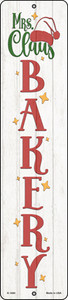 Mrs Claus Bakery White Wholesale Novelty Small Metal Street Sign K-1690