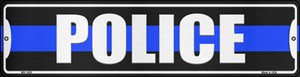 Police Blue Line Wholesale Novelty Mini Metal Street Sign MK-1629