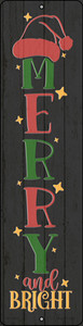 Merry and Bright Black Wholesale Novelty Mini Metal Street Sign MK-1688