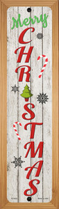 Merry Christmas Wholesale Novelty Wood Mounted Small Metal Street Sign WB-K-1632