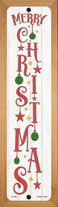 Merry Christmas Ornaments White Wholesale Novelty Wood Mounted Small Metal Street Sign WB-K-1652