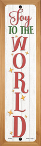 Joy To The World White Wholesale Novelty Wood Mounted Small Metal Street Sign WB-K-1668