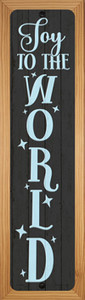 Joy To The World Black Wholesale Novelty Wood Mounted Small Metal Street Sign WB-K-1669