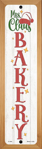 Mrs Claus Bakery White Wholesale Novelty Wood Mounted Small Metal Street Sign WB-K-1690