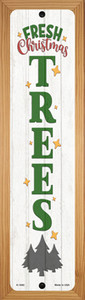Fresh Christmas Trees White Wholesale Novelty Wood Mounted Small Metal Street Sign WB-K-1692