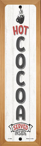 Hot Cocoa White Wholesale Novelty Wood Mounted Small Metal Street Sign WB-K-1696
