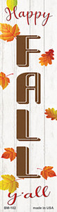 Happy Fall Yall Wholesale Novelty Metal Bookmark BM-102